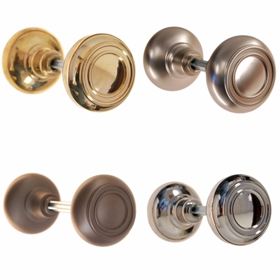 Art Deco Inspired Solid Doorknobs