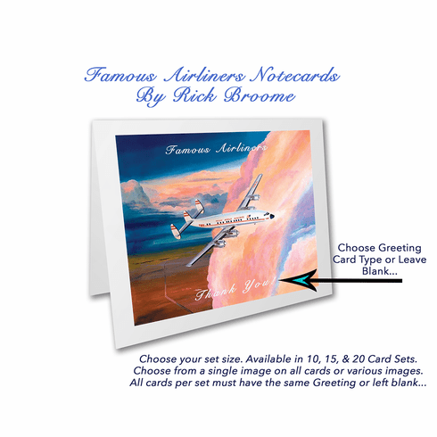 4x5 Folded Notecards: Famous Airliners
