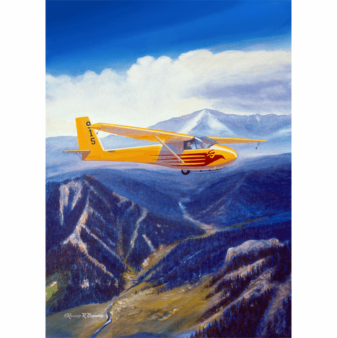 Soaring AFA. 12x16 Canvas Art Proof