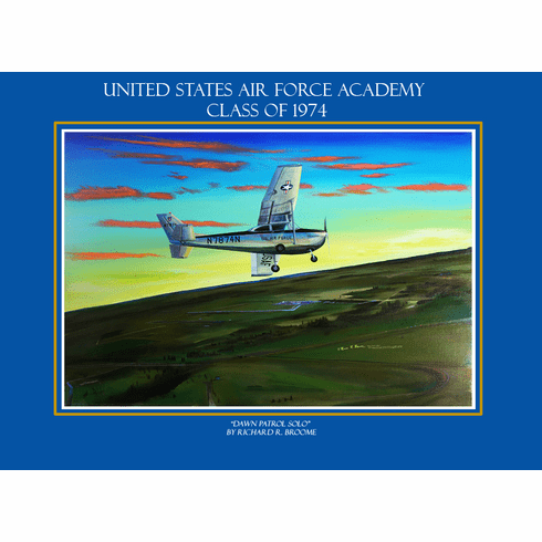 "USAFA 1974 ""Dawn Patrol Solo"" 18x23 Paper Limited Edition"