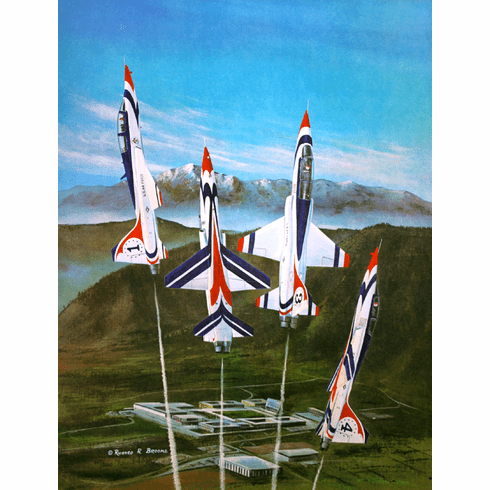 "USAFA 1975 ""THUNDERBIRDS"" Paper & Canvas Editions"