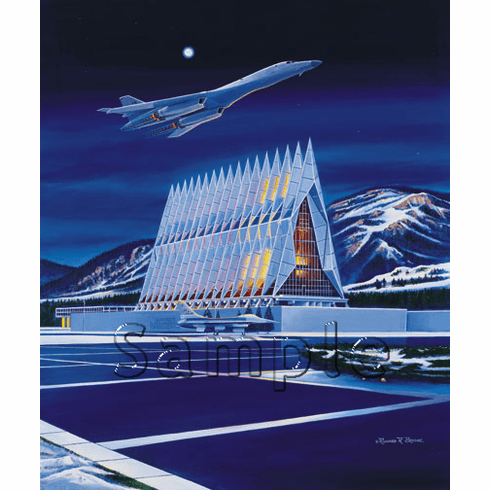 "USAFA 2001 ""Fired Up!"" Canvas Editions"