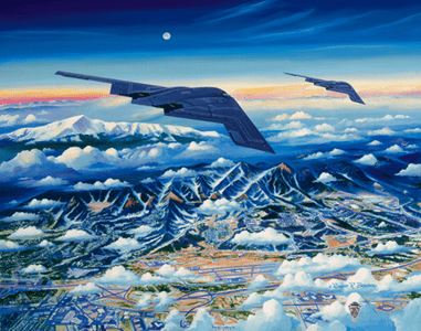 """USAFA 2004 """"Ready to Roll"""" Official Class Painting"""