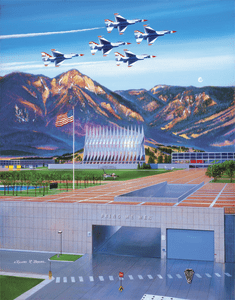 "USAFA 2005 20x24 ""To Match My Mountains"" Canvas"