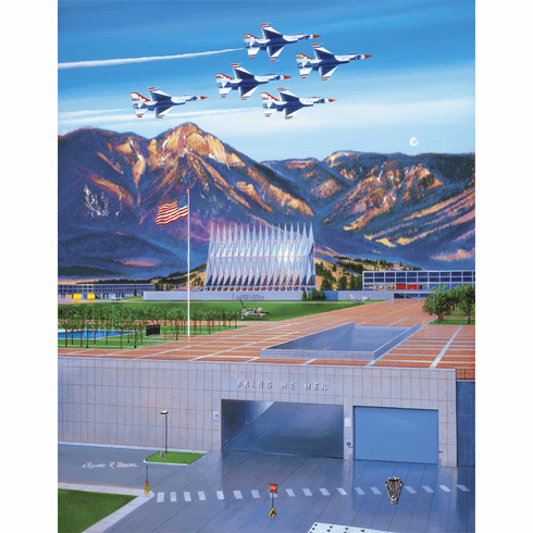 "USAFA 2005 ""To Match My Mountains..."" Canvas Editions"