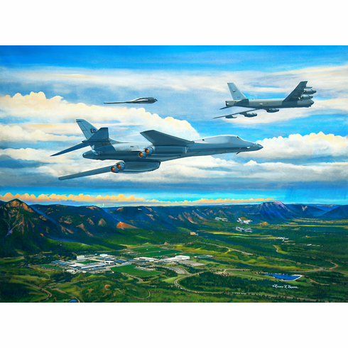 "USAFA 2013 ""Above & Beyond"" 18x24 Canvas: One Available"