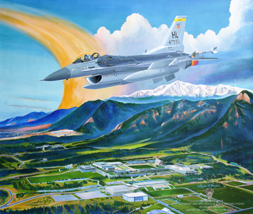 "USAFA 2016 OFFICIAL CLASS PAINTING: ""Fire & Ice"""