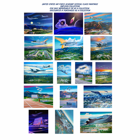 USAFA Official & Commemorative Class Paintings. Original Collection