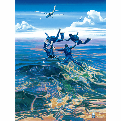 Wings of Blue Canvas Editions