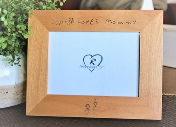 Custom Handwriting Engraved Picture Frame