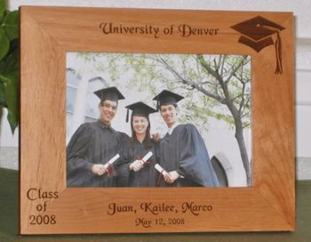 Graduation 2011 Picture Frame - Personalized Frame - Laser Engraved Graduation Class of 2011
