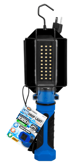 Image of Performance Tool Bright White LED Drop Light w/Built-In 120V Outlet