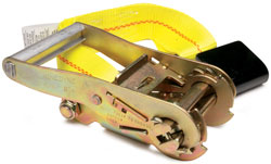 "Image of ""2"""" Fixed End Replacement Ratchet Strap with Flat Hook and Buckle"""