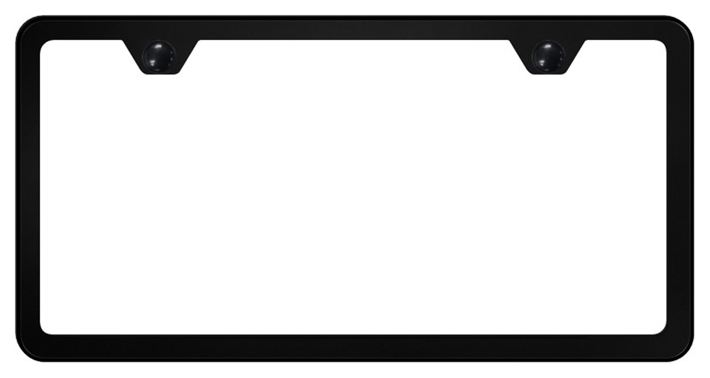 Image of 2 Hole Slimline Stainless Steel License Plate Frame - Black