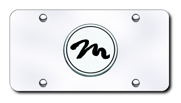 Stainless Steel Mercury Logo Bright Mirror Chrome License Plate Frame Tag