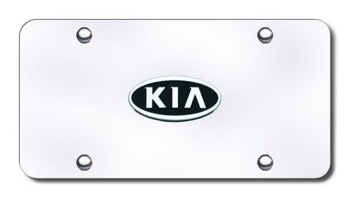 Image of 3D Chrome Kia Logo Stainless Steel License Plate