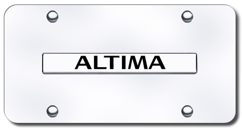 Image of 3D Chrome Nissan Altima Stainless Steel License Plate