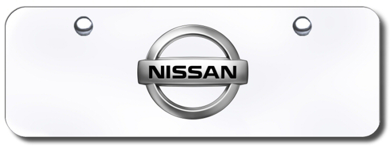 Image of 3D Chrome Nissan Logo Stainless Steel Mini License Plate