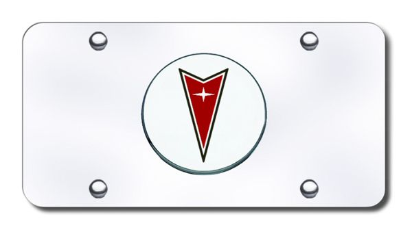 Pontiac Polished Stainless Steel License Plate