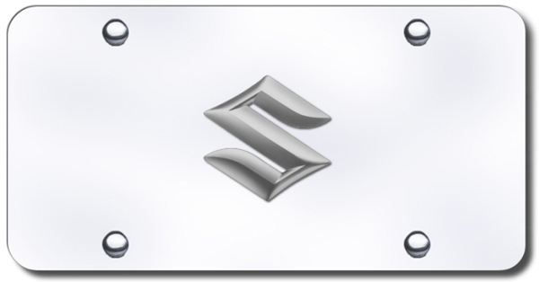 3D Chrome Suzuki Logo Stainless Steel License Plate