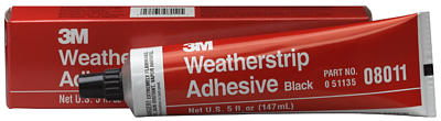 Image of 3M Black Weatherstrip Adhesive (5 oz. tube)