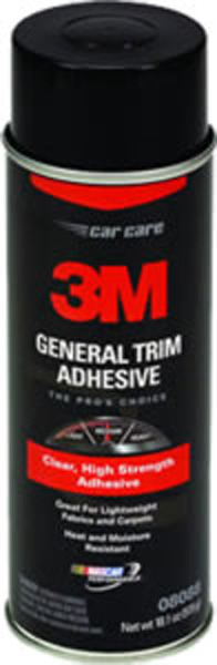 Image of 3M General Trim Adhesive Clear - 16.25oz Aerosol can
