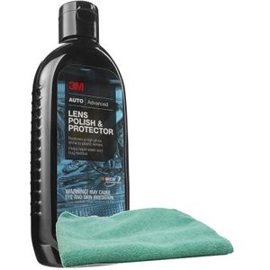 3M Lens Polish & Protector (8 oz) & Microfiber Cloth Kit