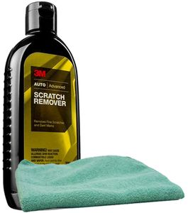 3M Scratch Remover (8 oz.) & Microfiber Cloth Kit