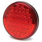 "40 LED 4"" Red/Black Sealed Light w/Chrome Back & 3-Prong Connector"