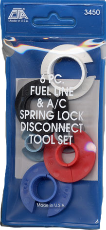 Image of 6 Pc Fuel Line And A/C Spring-Lock Disconnect Tool Set