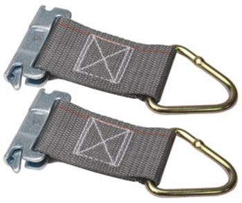 "6"" Series E/A Rope Tie-Off with 2"" Webbing & 1027 D-Ring (Pair)"