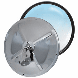 "8½"" Stainless Steel Adjustable Center Stud Convex Mirror"