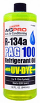 A/C Pro R-134a PAG 100 Refrigerant Oil With UV Dye (32 oz)