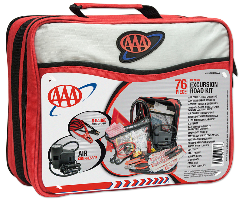Image of AAA 76 Piece Excursion Road Emergency Kit