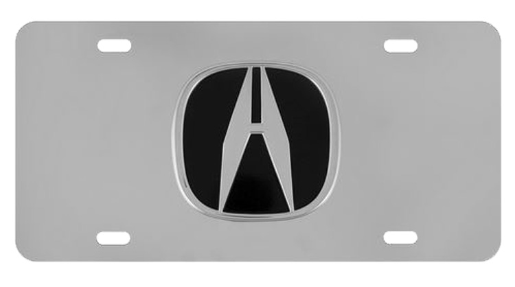 Image of Acura Logo 3D Stainless Steel License Plate