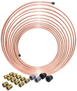 AGS Nickel Copper Brake Line Coil & Tube Nut Kit