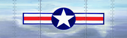 Image of Air Corp Star & Bar Rear Window Decal