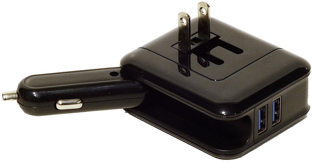 Image of 12V 2-in-1 USB Travel & Home Charger