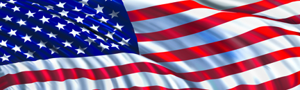 Image of American Flag In The Wind Rear Window Decal