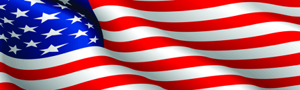 Image of American Flag Rear Window Decal