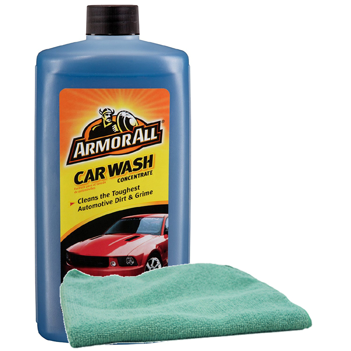 Image of Armor All Car Wash Concentrate 24oz & Microfiber Cloth Kit
