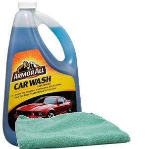 Armor All Car Wash Concentrate 64oz & Microfiber Cloth Kit