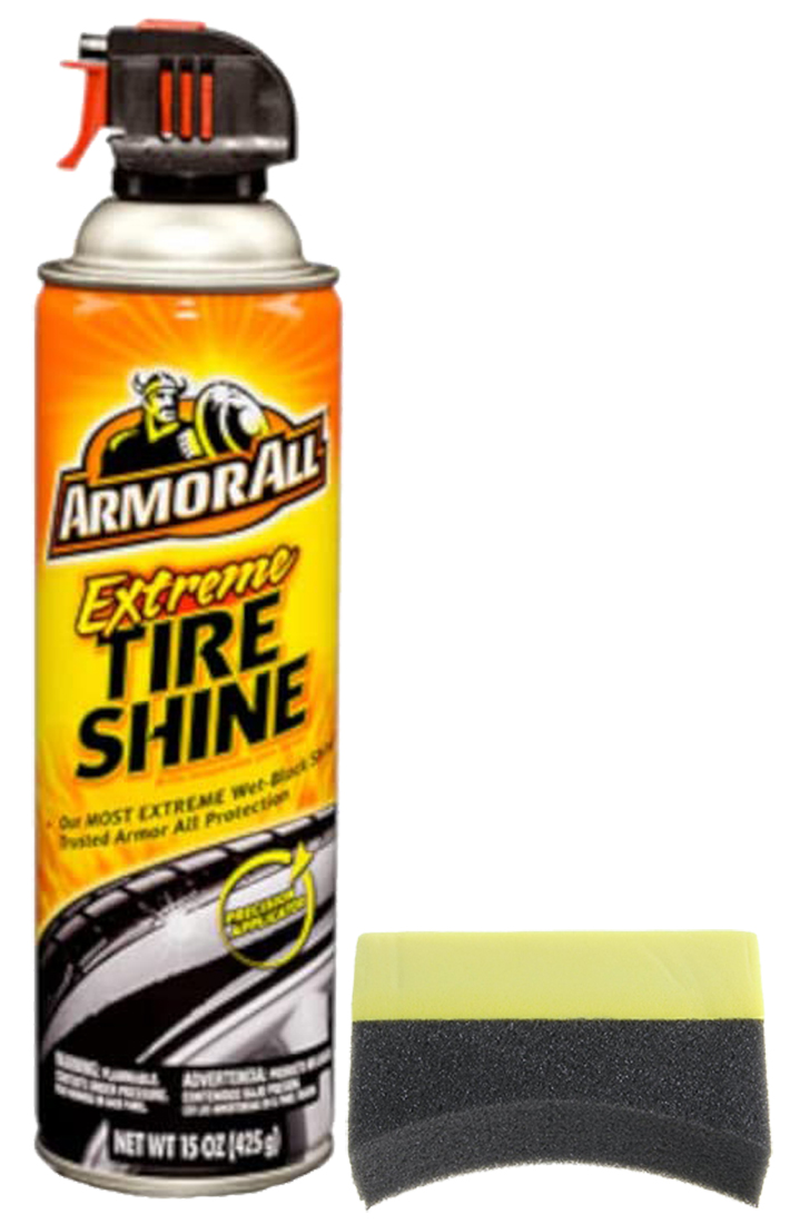 Image of Armor All Extreme Tire Shine Aerosol (15 oz.) & Applicator Pad Kit