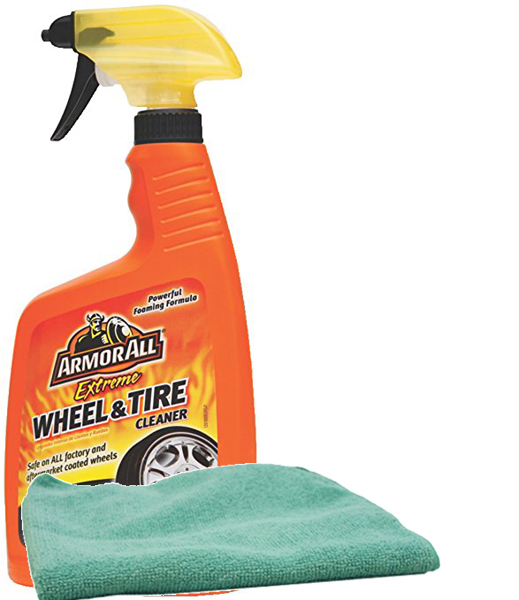 Image of Armor All Extreme Wheel & Tire Cleaner (24 oz) & Microfiber Cloth Kit