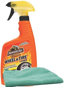 Armor All Extreme Wheel & Tire Cleaner (24 oz) & Microfiber Cloth Kit