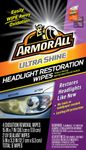 Armor All Ultra Shine Headlight Restoration Wipes (6 Wipes)