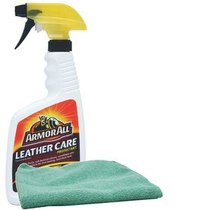 Armor All Leather Care Protectant (16oz) & Microfiber Cloth Kit