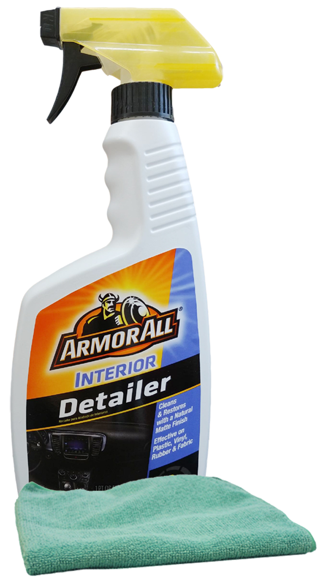 Image of Armor All Interior Detailer Spray (16 oz.) & Microfiber Cloth Kit