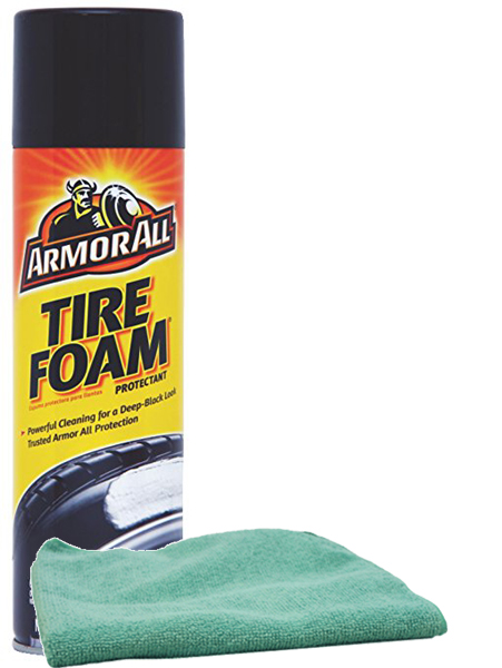 Image of Armor All Tire Foam Protectant (20 oz.) & Microfiber Cloth Kit