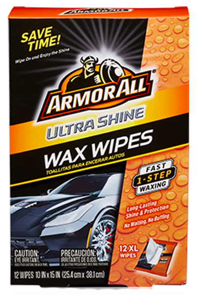 Image of Armor All Ultra Shine Wax Wipes (12 Count)